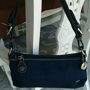 The Sak Crochet Navy Blue Handbag
